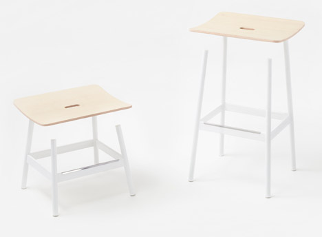 Float stool by Nendo for Moroso