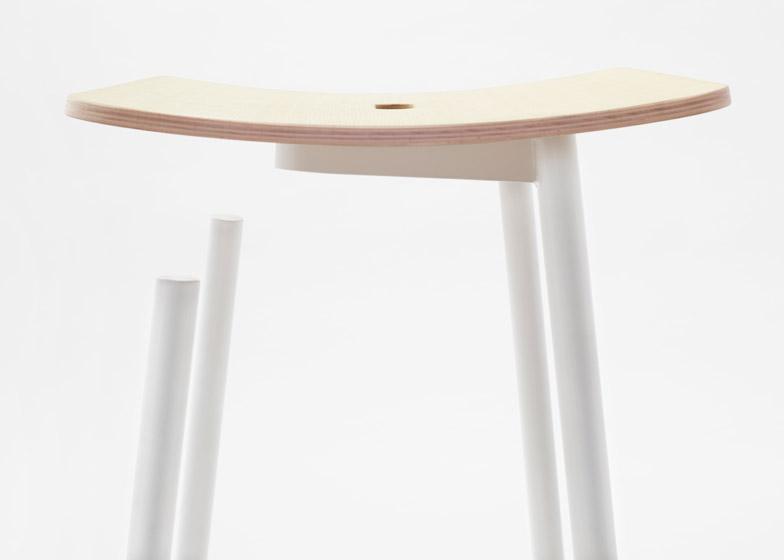 Float stool by Nendo for Moroso