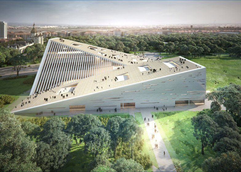 New National Gallery and Ludwig Museum in Budapest proposal by Snohetta