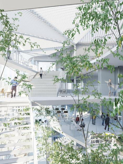 Paris-Saclay Polytechnique by Sou Fujimoto