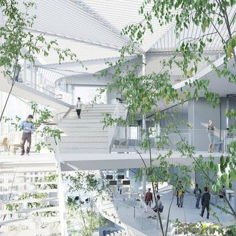 Sou Fujimoto envisions trees and balconies for Université Paris-Saclay building