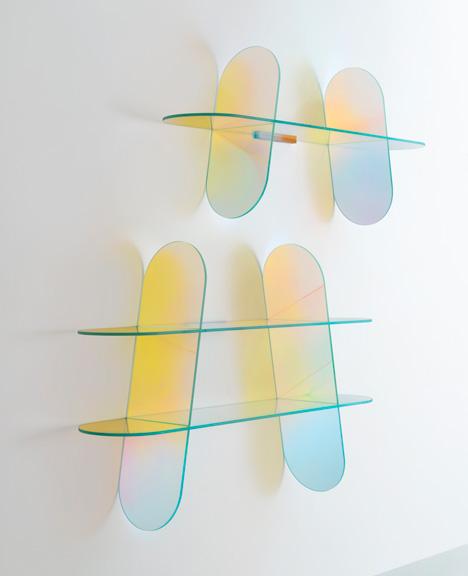 Patricia Urquiola Shimmer shelves Glas Italia