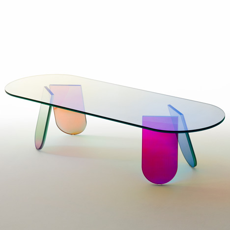 Patricia Urquiola's Shimmer furniture for Glas Italia