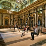 Philippe Malouin installs swing set inside grand Milanese palazzo