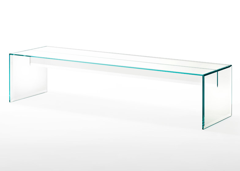 Prism glass bench by Tokujin Yoshioka
