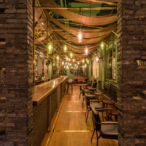 Neri&Hu's design for a Shanghai punch bar references the city's old alleyways