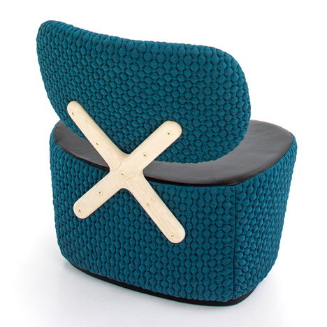 Richard Hutten's X-Chair for Moroso is designed to be seen from behind