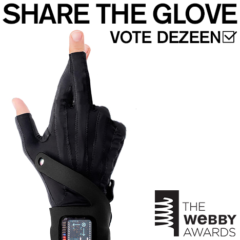 Share the glove. Vote Dezeen!