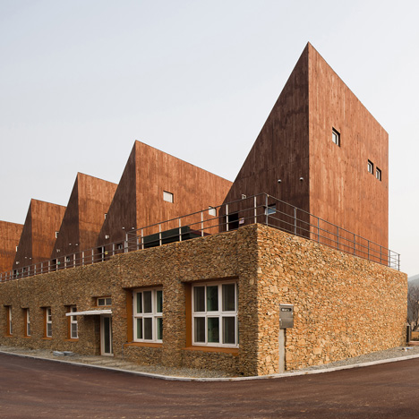 Korean island visitor centre by OUJAE Architects features a remodelled schoolhouse