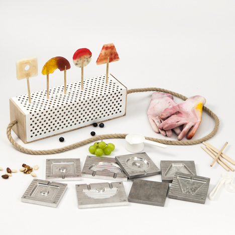 Lollipop-making kit by Tessa Geuze is designed to create homemade seasonal treats