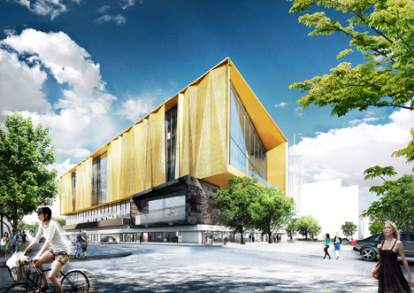Schmidt hammer lassen designs christchurch library for Christchurch architecture firms