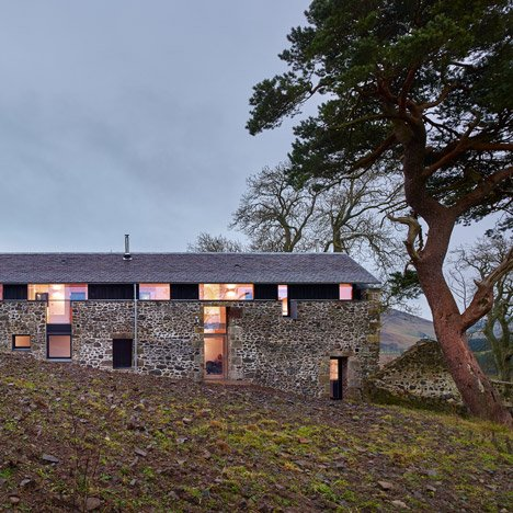 Scottish holiday home by WT Architecture<br /> masquerades as an old stone mill