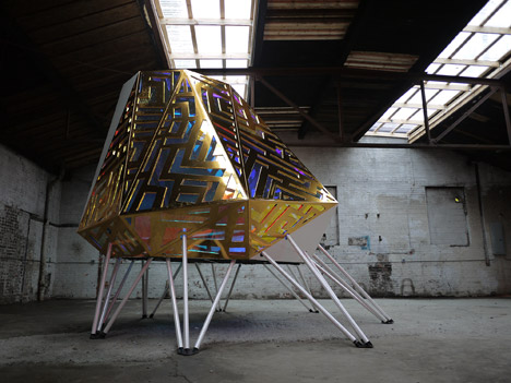 The Mothership mobile DJ booth by Anya Sirota