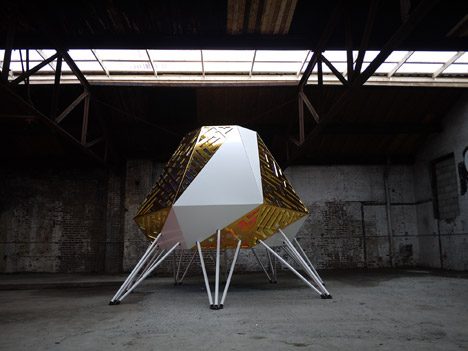 The Mothership by Akoaki is a mobile DJ booth for playing funk on the streets of Detroit