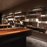 Water runs from shelf to shelf in JamesPlumb's Aesop store