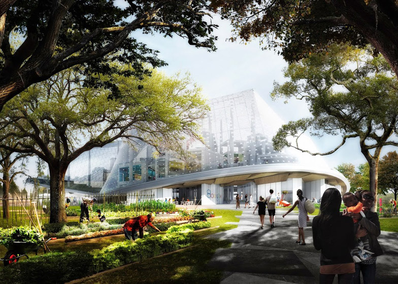 BIG and Thomas Heatherwick proposed design for the Google headquarters