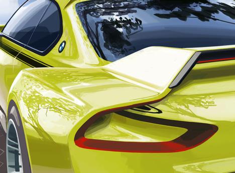 BMW 3-0 CSL Hommage concept car 2015_dezeen_1
