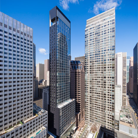 SOM's Baccarat tower in New York overlooks MoMA's sculpture garden