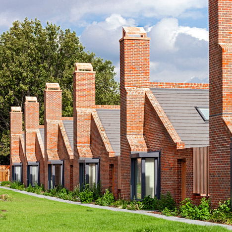 Brick bungalows provide social housing for elderly residents in east London