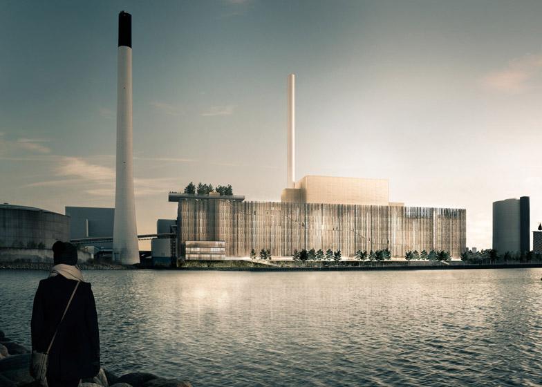 Biomass plant in Copenhagen by Gottlieb Paludan