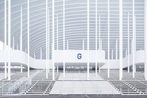 Herzog de meuron s bordeaux stadium framed by columns