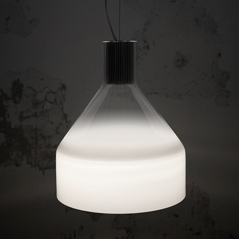 Venetian fog influences Marco Zito's Caiigo lamp for Foscarini