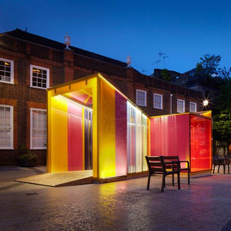Glaze pavilion by Cousins & Cousins designed to resemble a Venetian glass sweet
