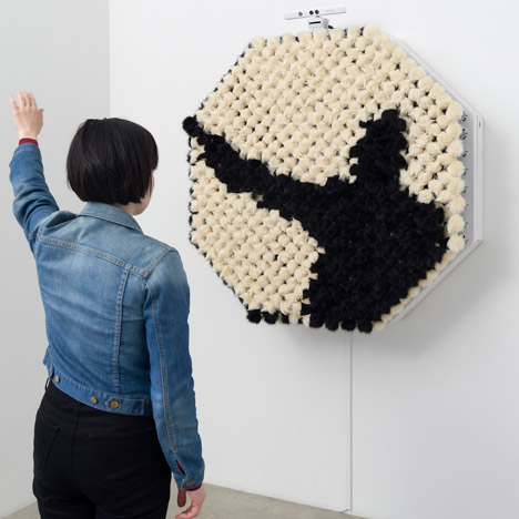 "PomPom Mirror creates ""reflections"" with tufts of fur"