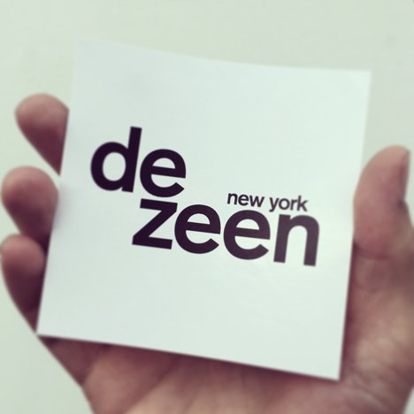 Dezeen New York sticker