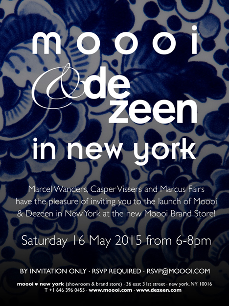 Dezeen and Moooi New York launch party invite