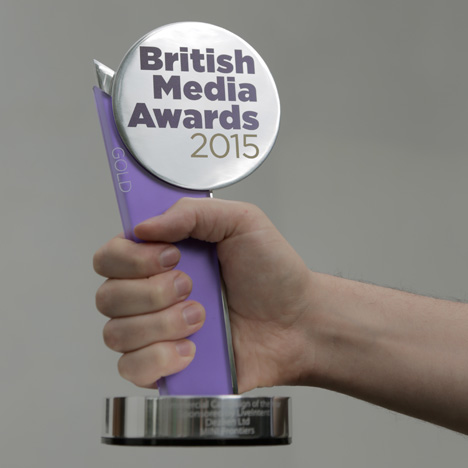Dezeen wins Commercial Campaign of the Year at the British Media Awards 2015
