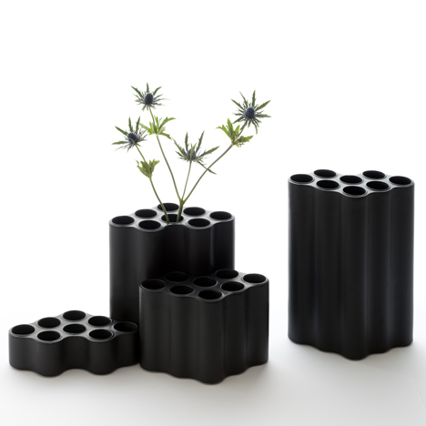 Cloud vases by the Bouroullec brothers fit together in clusters