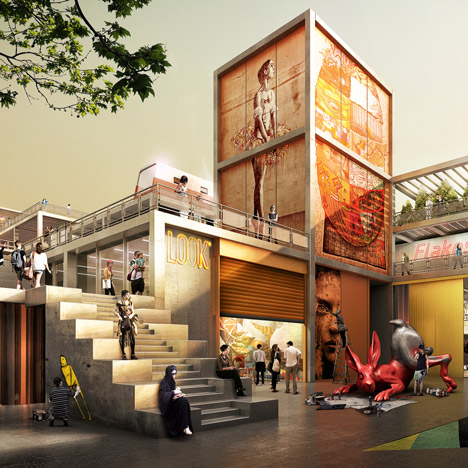 D3 design district in Dubai proposed by Foster + Partners