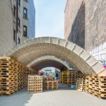 ETH Zurich designers create arched pavilion out of upcycled beverage cartons