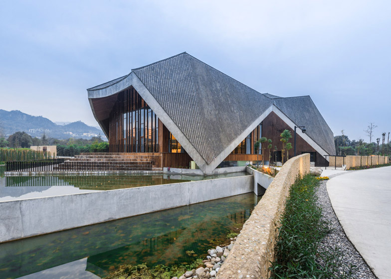 Eco hot spring resort by AIM Architecture