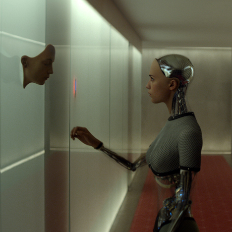 """Hard shiny surfaces are for the bad guys"" says Ex Machina production designer"