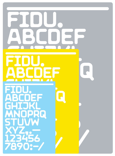 FiDU alphabet by ZIETA
