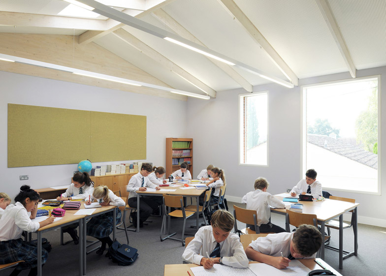 Fitzjames Teaching and Learning Centre at Hazlegrove School by Feilden Fowles