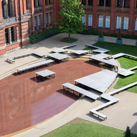 Frida Escobedo creates an Aztec-inspired installation in the V&A courtyard