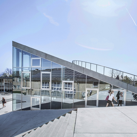 Gammel Hellerup High School by BIG