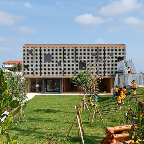 Hanazono Kindergarten designed to endure typhoons and offer outdoor play spaces