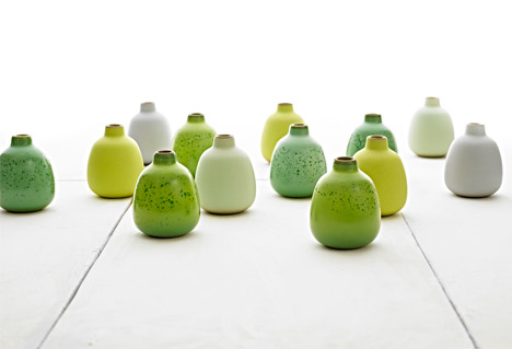Summer seasonal bud vases by Heath Ceramics, 2007. Photograph by Jeffery Cross
