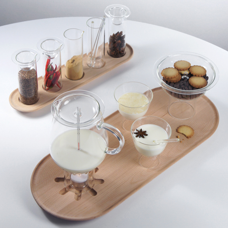 Hot Milk lab by Sebastian Bergne