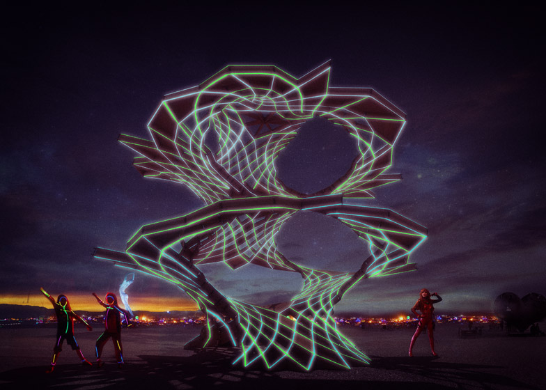 Burning Man 2015 pavilions by Lorna Jackson, Tobias Powers and Jon Leung