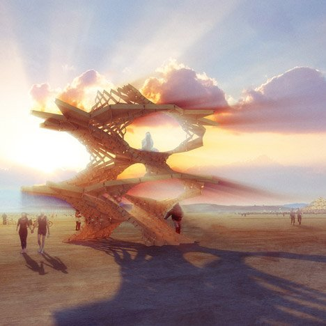 London architecture students design desert pavilions for Burning Man festival