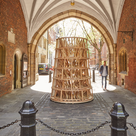 The Invisible Store at St John's Arch by Sebastian Cox for Clerkenwell Design Week