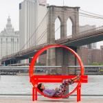 Jeppe Hein creates 18 whimsical installations for Brooklyn Bridge Park