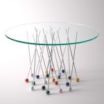 Daniele Ragazzo's Liaison Table is supported by giant pin-shaped legs