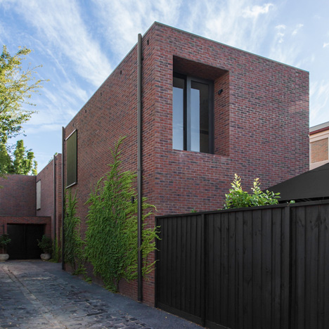 B.E. Architecture completes a trio of red brick houses for the same family