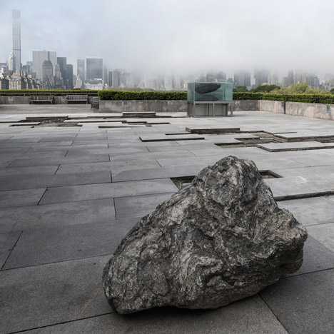 Pierre Huyghe incorporates primordial elements into Met rooftop installation in New York